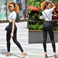 Женские джинсы четырех способов растягивающую мелодию черный стежок Высокая талия Джинсовая женщина осень сексуальная эластичная тощая для женщин брюки