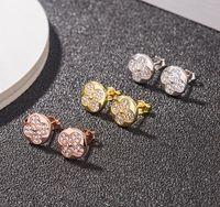Brincos de trevos de desenhador de moda S925 Sterling Silver V l Brincos com pedra de cristal para as mulheres Presente de festa de jóias