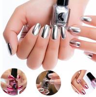 Smalto per unghie effetto metallico Smalto per unghie in argento oro rosa argento con smalto per manicure e smalto per unghie