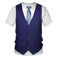 Büyük boyutlu Genç erkek Tshirt fortniter Komik Sahte Suit 3D Tişörtlü Smokin Bow Tie 3D Baskılı T-shirt Erkekler Yaz Streetwear
