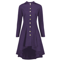 Trenchs de Femme Coats Langstar Automne Hiver Solide Plus Taille Gothique Manteau Femmes Casual High Bas Haut Habilé à lacets à manches longues à manches longues Slim