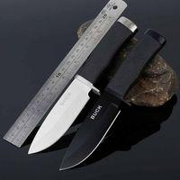 Фиксированные лезвия Тактический нож 56HRC стали и резиновой ручкой Открытый нож выживания EDC карманный нож Отдых на природе Охота Инструменты