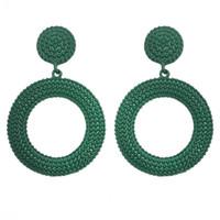 12 colori europei e americani nuovi orecchini in metallo orecchini rotondi da donna orecchini a vento freddo piccoli gioielli