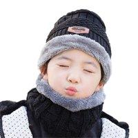 Ouder-kind warme winter gebreide caps gebreide vintage wol hoofddeksels sjaal voor 3-12 jaar oude chind jongen meisje hoed