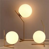 북유럽 유리 공 테이블 라이트 거실 미술 장식 데스크 램프 침실 스터디 룸 침대 옆 테이블 램프 전등 설비에 대한