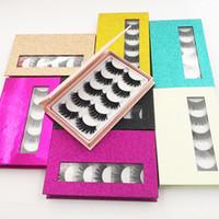5 par / set 3D Mink Cílios Maquiagem Dos Olhos Mink Cílios Macio Natural Densivo Cílios Postiços Eye Lash Extensão Beleza Ferramentas 8 estilos GGA2469