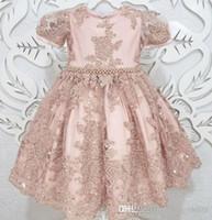2020 꽃의 소녀 드레스 볼 가운 얇은 명주 그물 어린 소녀 웨딩 드레스 빈티지 성찬식 선발 대회 드레스 가운