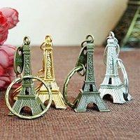에펠 탑 키 체인 3 컬러 창조적 기념품 타워 펜던트 빈티지 키 링 선물 레트로 클래식 홈 장식 무료 TNT 페덱스