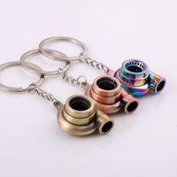 concepteur trousseau Turbine clés chaîne de haute qualité réel Whistle son Auto Part modèle Turbocompresseur Keyfob métal voiture Turbo Keychain