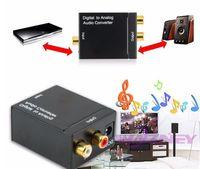 Hohe qualität Digital Adaptador Optic Koaxial-RCA-Toslink-Signal an analoge Audio-Konverter-Adapterkabel DHL-freies Verschiffen