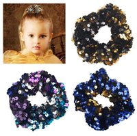 Lady Hair Sequin glitter Scrunchies Ring Elastic Hair Bands ...