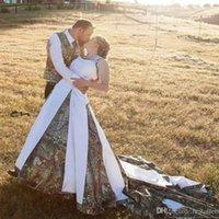 جديد الرسن الرقبة غرب البلد 2020 كامو فساتين الزفاف زائد الحجم وأثواب الزفاف الخط التمويه تفصيل فستان العروس فستان دي noiva