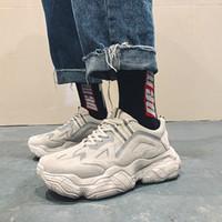 2019 새로운 플랫폼 스니커즈 미끄럼 방지 착용감 남성용 가황 신발 혼합 컬러 플랫폼 신발 남성 크롤링 신발 R2-51