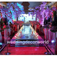 Luxus Hochzeit Säulen Spalte Hochzeit Bühne Gehweg Lear Acryl stehen Kristall Gang Säule für Hochzeiten decor00029