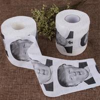 Donald Trump Hillary Toilettenpapier-Rolle Präsident Handpapierrolle Novel Geschenk-Gag-Streich-Witz 11 Stil Toiletten Supplies Badezimmer-Gewebe E31801