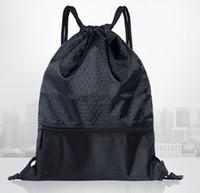 288f7dda6 Leeshow tamanho Grande durável à prova de água saco de cordão, nylon forte  mochila de praia, 100 pcs pode personalizado com o seu logotipo
