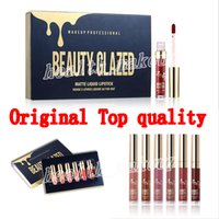 Hochwertiger Geburtstag Lippenstift 6 Farben Set Lipgloss Schönheit Glasierte Matte Flüssige Lippenstifte Make-up Geburtstag Limited Edition Kit Lip Kosmetik