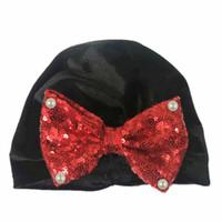 أزياء الأطفال حديثي الولادة طفل طفل رضيع فتاة العمامة المخملية قبعة القوس قبعات الشتاء كاب