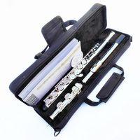 Japan YFL-471 flöjt professionell cupronickelöppning c nyckel 16 hål flöjt silverpläterade musikinstrument med fodral och tillbehör