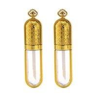100pcs فارغة البلاستيك 5ml التاج الذهبي زجاجة مكياج شفة فارغة أنبوب ملمع