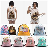 Unicorns Drawstring Backpack Emoji Backpacks Unisex Printed ...