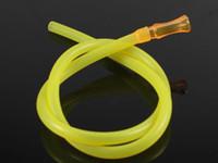 Tubo de silicona manguera manguera Hookah bucket accesorios grado alimenticio alta temperatura sin sabor color transparente paja envío gratis