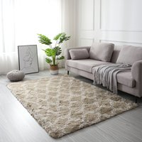 Nordic style tie- dyed living room carpet thickened bedside r...