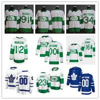9f435adcb33 Toronto 2019 St. Pats Maple Leafs maglie verde Mitch Marner 91 John Tavares  34 Auston