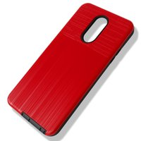 For Alcatel A3 XL A5 U5 1X U3 3V 3X Anti-Scratch Shockproof Protective Brushed Metal Combo Phone Case Cover