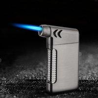 New Metal-Spritzpistole Jet Pfeifenfeuerzeug Ultra Thin Torch Turbo Butangas Elbow Lighter Inflated windundurchlässige Zigarette Zigarettenanzünder