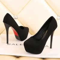 Платье обувь 2021 мода стая платформа платформы женские насосы круглые носки черная сексуальная вечеринка весна неглубокие супер высокие каблуки офисная леди