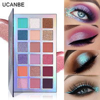 Maquillage Beauté de fard à paupières Ucanbe 18 couleurs palette ombres à paupières irisées mate cosmétiques fards à paupières Mercury Retrograde yeux DHL Livraison gratuite