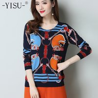 YISU Printed sweater Women 2019 Spring Fashion Ladies Tops P...