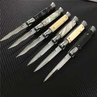 6 Стиль 9 дюймов итальянской мафии стиль Складные лезвия Италия карманные ножи Двойной AUTO 440C Одно из нержавеющей стали лезвия Tactical EDC ножи 10 13