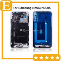 OEM için Samsung Galaxy Note 3 LTE 4G N9005 Ön Ekran LCD Panel Çerçeve Orta Bezel Konut + Home Düğmesi Değiştirme Gümüş Altın 10PCS