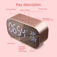 Nuevos Altavoces portátiles inalámbricos Bluetooth Alarmas LED Radio reloj Reloj Pantalla digital Home Car Bass Speaker NE