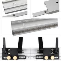 Mit skala aluminiumlegierung werkbank router tragbare werkzeug professionelle holzbearbeitung gehrungsspur geändert tabelle diy stop home