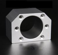 Werkstoff Aluminiumlegierung SFU1605 1610 1616 2005 2010 2020 2505 2510 2525 Kugelumlaufspindel Kugelgewindemutter Gehäusehalter Halterung Linearer CNC-Teil