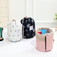 Cosmetic Bags Women Lazy Drawstring Cosmetic Bag Fashion Tra...