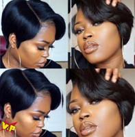 Beliebte Afrikanische schwarzer kurzer Bob glattes Haar geschwollene Haarperücke, chemische Faser Haar, europäische und amerikanische Perücke