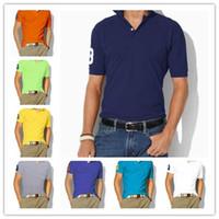 Yüksek kaliteli pamuk Yaz atı Tişört ABD Amerikan Polo Shirt Erkekler Kısa Kol Spor Casual Polo moda Katı klasik tshirt