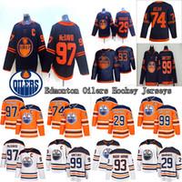 2019-2020 ادمونتون مزيتات جيرسي 97 كونور مكدافيد 99 اين Gretzky 74 الدب 29 ليون درايسايتل 93 ريان نوجنت هوبكنز الفانيلة هوكي