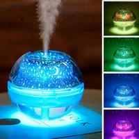 BRELONG Bunte USB Kristall Luftbefeuchter Projektionslampe Nachtlicht Innen Schlafzimmer Paar Ambiente Licht Gold / Silber