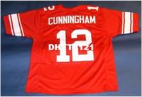 88970bbb New Arrival. Men CUSTOM RED #12 RANDALL CUNNINGHAM CUSTOM UNLV REBELS RETRO  NEVADA College Jersey ...