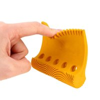 Rubber Wood Grain Pattern Tool Five Holes Yellow DIY Wall Pa...