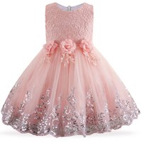 Summer For Children Flower Girls Party Wedding Dress Elegent...