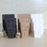 10 أكياس الورق هدية أكياس الإعلان حقيبة تسوق حقائب صديقة للبيئة أبيض أسود كرافت ورقة 3 ألوان 1 95jn10 E1