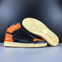 Nuova pelle 1 3.0 Alta OG nero arancio Uomo Scarpe da basket Sport maschio 1s Scarpe da ginnastica di alta qualità Formato scatola all'ingrosso 8-13