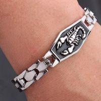bracelets en acier titane bijoux style punk scorpion bracelets pour la mode chaud hommes libres de l'expédition