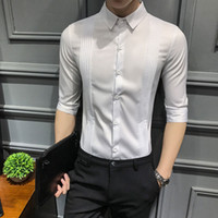 New Arrival Men' s Fashion Slim Fit Middle Sleeve KTV Ba...